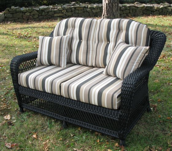 Wicker Loveseat Cushion Set 14 Jpg