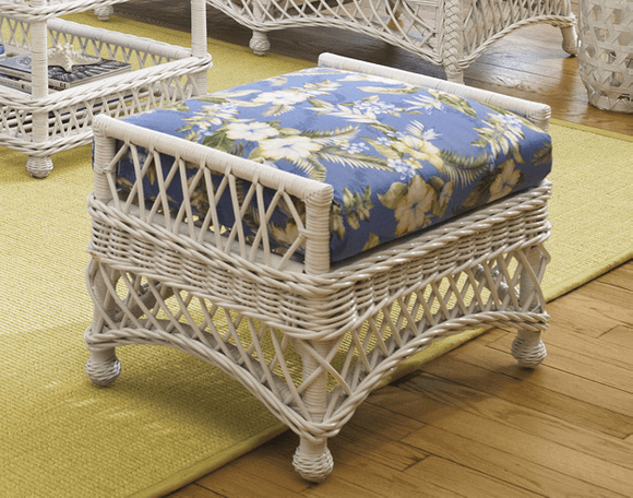 Wicker Ottoman -Vineyard