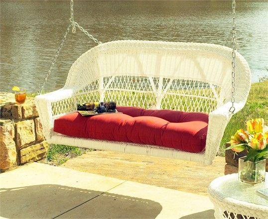 Wicker Porch Swing - Cape Cod
