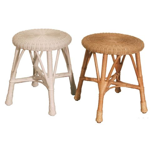 Wicker Stool Round