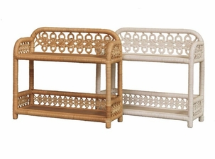 Wicker Two Tier Shelf