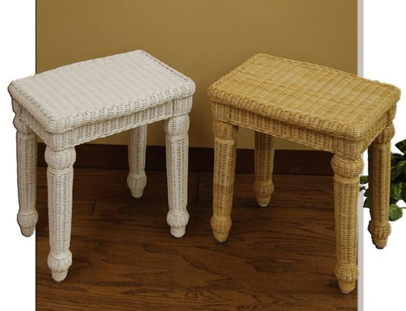 Wicker Vanity Bench