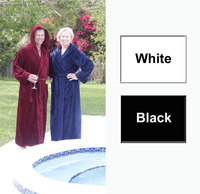 Premium Cotton Terry Velour Hooded Bathrobe in 100% Cotton