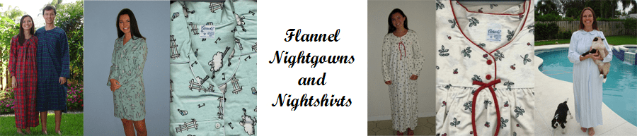 Ladies Flannel Nightgowns, Robes, Terry Robes