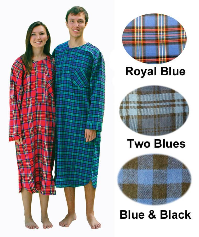Mens Cotton Flannel Nightshirts Click to Enlarge. Item  MFN 20457d0a0