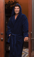 Velour Terry Hooded Robe