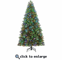 7.5' Poly Russell Pine 500 Color changing LED Lights