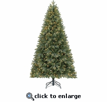 7.5' Prelit Russell Tree 500 Clear LED lights