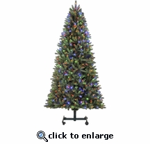 7'-9''  LED Artic Grow and Stow Tree 800 LED Changing Lights