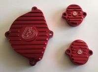 TB Parts Billet Head Cover Kit in Red for KLX110