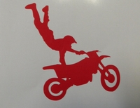 Hart-Attack Motorcross Die-Cut Sticker