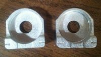 Replacement Aluminum Axle Adjuster Blocks (Pair) - For Aftermarket KLX110 Swingarms