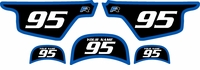 Yamaha PW50 Custom Pre-Printed Black Background - Blue Bold Pinstripe by Factory Ride