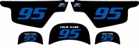 Yamaha PW50 Custom Pre-Printed Black Background - Blue Numbers by Factory Ride