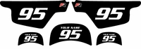 Yamaha PW50 Custom Pre-Printed Black Background - White Numbers by Factory Ride