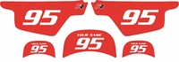 Yamaha PW50 Custom Pre-Printed Red Background - White Numbers by Factory Ride