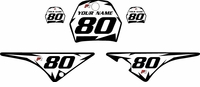 Yamaha PW80 Custom Pre-Printed White Background - Black Shock Series by Factory Ride