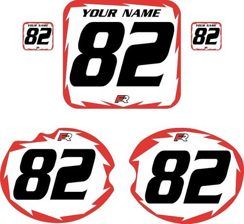 1982 Honda CR480 DC PLASTICS White Pre-Printed Backgrounds - Red Shock by Factory Ride