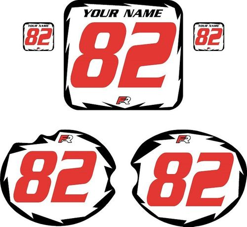 1982 Honda CR480 DC PLASTICS White Backgrounds - Black Shock - Red Number by FactoryRide