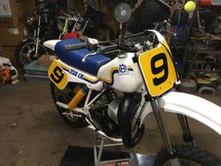 Customers 1983 Husqvarna 250 CR Vintage Yellow with Black Numbers