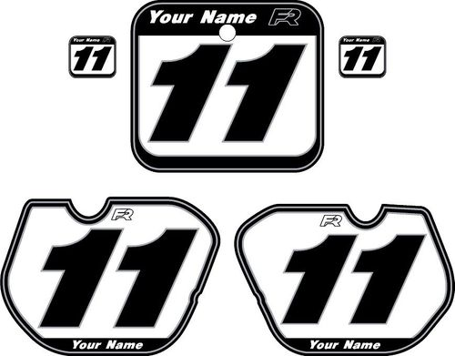 1985-1986 Honda CR250 White Pre-Printed Backgrounds - Vintage Pinstripe by FactoryRide