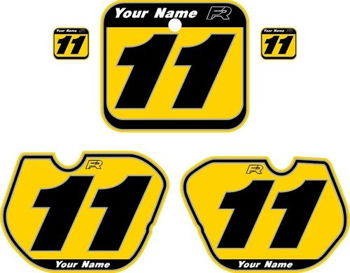 1985-1986 Honda CR500 Yellow Pre-Printed Backgrounds - Vintage Pinstripe by FactoryRide