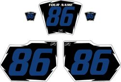 1985-1986 HUSQVARNA TE250 Black Pre-Printed Backgrounds - White Shock - Blue Number by FactoryRide