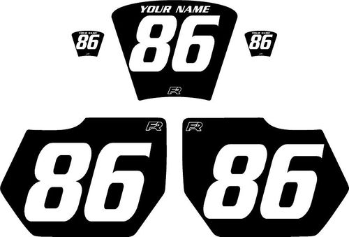 1985-1986 HUSQVARNA TE250 Black Pre-Printed Backgrounds - White Numbers by FactoryRide