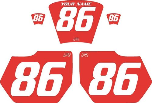 1985-1986 HUSQVARNA TE250 Red Pre-Printed Backgrounds - White Numbers by FactoryRide