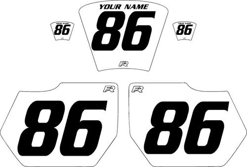 1985-1986 HUSQVARNA TE250 White Pre-Printed Backgrounds - Black Numbers by FactoryRide