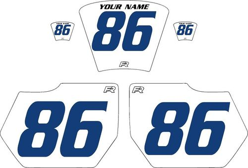 1985-1986 HUSQVARNA TE250 White Pre-Printed Backgrounds - Blue Numbers by Factory Ride
