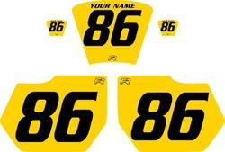 1985-1986 HUSQVARNA TE250 Yellow Pre-Printed Backgrounds - Black Numbers by FactoryRide