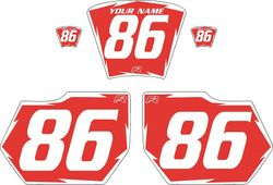 1985-1986 HUSQVARNA TE250 Red Pre-Printed Backgrounds - White Shock by FactoryRide