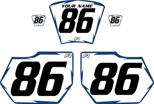1985-1986 HUSQVARNA TE250 White Pre-Printed Backgrounds - Blue Shock by Factory Ride