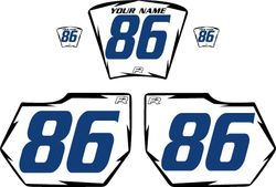 1985-1986 HUSQVARNA TE250 White Pre-Printed Backgrounds - Black Shock - Blue Number by FactoryRide