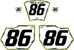 1985-1986 HUSQVARNA TE250 White Pre-Printed Backgrounds - Blue Pro Shock by FactoryRide