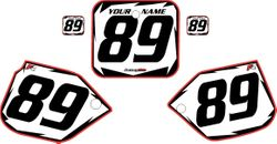 1988-1989 Honda CR250 White Backgrounds - Red Pro Shock by FactoryRide