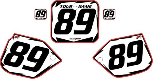 1989-1990 Honda CR125 White Backgrounds - Red Pro Shock by Factory Ride