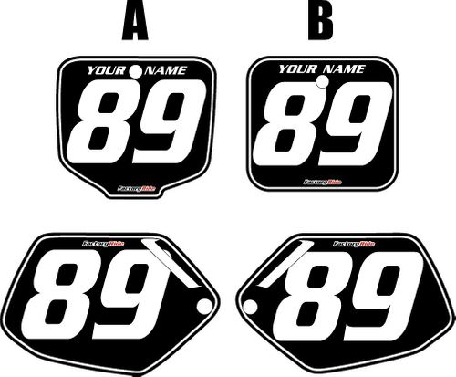 1991-2001 Honda CR500 Black Pre-Printed Background - White Pinstripe by FactoryRide