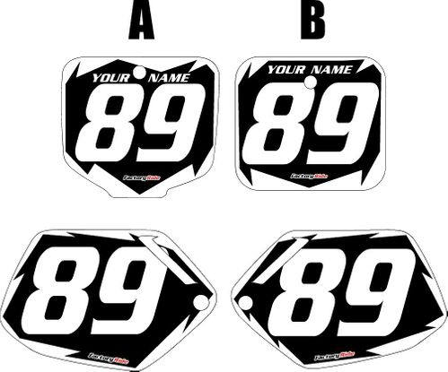 1991-2001 Honda CR500 Black Pre-Printed Background - White Shock Series by FactoryRide