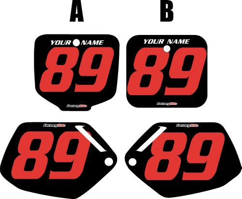 1991-2001 Honda CR500 Pre-Printed Backgrounds Black - Red Numbers by FactoryRide