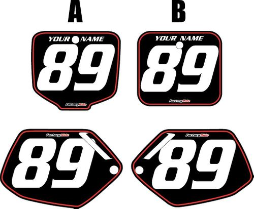 1991-2001 Honda CR500 Pre-Printed Backgrounds Black - Red Pinstripe by FactoryRide