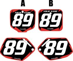 1991-2001 Honda CR500 Pre-Printed Backgrounds Black - Red Shock Series by FactoryRide