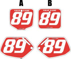 1991-2001 Honda CR500 Pre-Printed Backgrounds Red - White Bold Pinstripe by FactoryRide