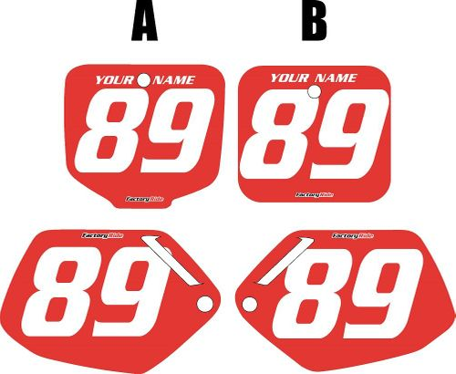 1991-2001 Honda CR500 Pre-Printed Backgrounds Red - White Numbers by FactoryRide