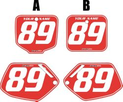 1991-2001 Honda CR500 Pre-Printed Backgrounds Red - White Pinstripe by FactoryRide