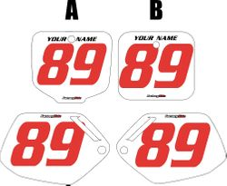 1991-2001 Honda CR500 Pre-Printed Backgrounds White - Red Numbers by FactoryRide