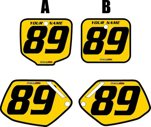 1991-2001 Honda CR500 Pre-Printed Backgrounds Yellow - Black Bold Pinstripe by FactoryRide