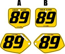 1991-2001 Honda CR500 Pre-Printed Backgrounds Yellow - Black Pinstripe by FactoryRide
