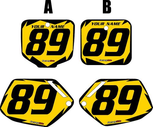 1991-2001 Honda CR500 Pre-Printed Backgrounds Yellow - Black Shock Series by FactoryRide